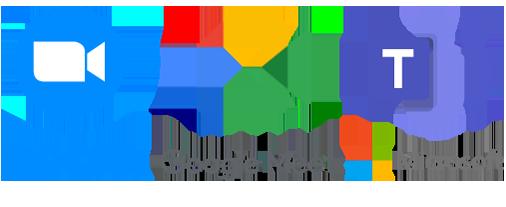 Zoom、Meet、Teamsで対応可能
